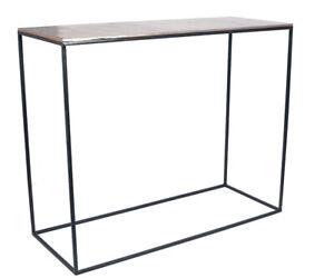 Black Iron & Gold Aluminium Oblong Console Table