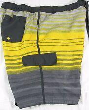 OP-Ocean Pacific Mens Shorts Swim Trunks Yellow Gray Board Shorts Size 44-46-2XL