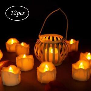 12pcs LED Flammenlose Kerzen mit Timerfunktion Flackern Elektrische Party Lichte