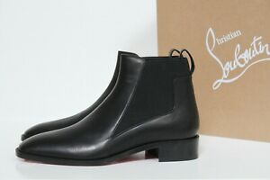 sz 5 / 35.5 Christian Louboutin Marmada Black Leather Ankle Pull on Boot Shoes