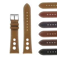 DASSARI Vintage Leather Quick Release GT Rally Racing Mens Watch Band Strap