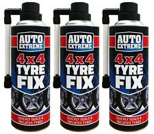 3x XL 4X4 QUICK FIX CAR EMERGENCY FLAT TYRE INFLATE PUNCTURE REPAIR KIT 450ML