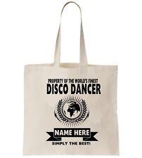 Disco Dancer Personalised Tote Bag Shopper Thanks Amend Birthday Gift Fun Dance