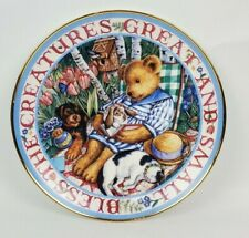 Royal Doulton Franklin Mint 'Blessed With Friends' Teddy Bear Plate Limited Ed