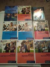 California Real Estate Textbooks/Workbooks Kaplan/Kapre DRE exam prep and terms