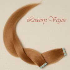 40pcs 100% Remy Hair Echthaar Haarverlängerung 3M Tape Extensions #14 Lux.Vogue