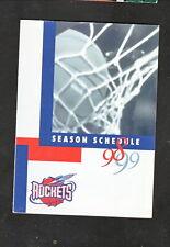 Houston Rockets--1998-99 Pocket Schedule--Gallery Furniture