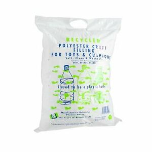 Recycled Polyester Craft Stuffing Cushion Toy 250g soft, clean and washable