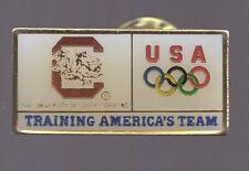 1996 Atlanta License Plate Olympic Pin USA Training Uni South Carolina Cocky Tag