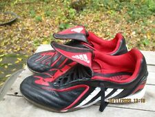ADIDAS Predator Indoor Soccer Shoes Mens Sz 9 #048384 Black Red White Lace Up EC