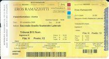 Ticket Concert: Eros Ramazzotti (21/11/2009) Palalottomatica Roma