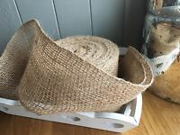 Natural Jute Hessian Ribbon Weddings, Bows,Crafts ,Trim, Sewing, 10cm Wide 1 Mtr