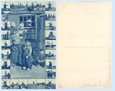 Costume Volendam Family & Children Windmills Holland 1909 Postcard