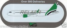 "AIRBUS A320 RELAER AIRLINE STICKER ""Over 500 Deliveries"" ~EXTREMELY RARE~"