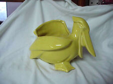 A  VINTAGE NELSON & McCOY YELLOW PELICAN  PLANTER  1940 'S ?