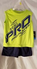 Boys T Shirt Shorts ProPlayer Infant ALWAYS AWESOME 12 M New Black Blue Clothes