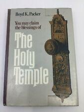 THE HOLY TEMPLE BOYD K PACKER (HC DJ 1986)