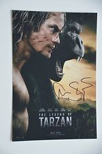 Alexander Skarsgard signed 20x30cm TARZAN photo autographe/Autograph en personne