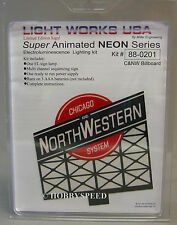 Miller Engineering C & Nw Animated Neon Billboard train track chicago #88-0201