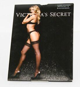 Victoria's Secret Classic Stockings Size B Tall Black Sheer Thigh High Hosiery
