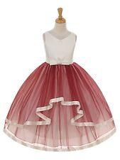Gorgeous Cascading Princess Gown Birthday Jr Bridesmaid Formal Flower Girl Dress