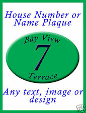 Personalised House Name or Number Plaque AnyText Design
