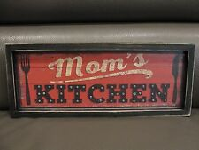 "LED Wood Box Light Up Sign ""Mom's Kitchen"" Picture 6 Hour Timer Decor"