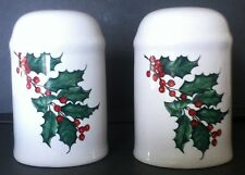 HALLMARK Holly with Berries Salt & Pepper Shaker Set WINTER HOLIDAY CHRISTMAS