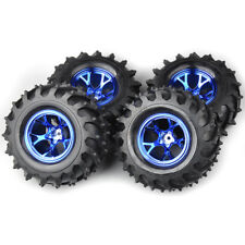 US 4X 125mm 1/10 Bigfoot Tires&Wheel Rim12mm Hex For Monster Truck Claming Car