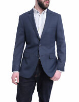 Mens 40S Arthur Black Slim Fit Blue Basketweave Two Button Wool Blazer Sportcoat