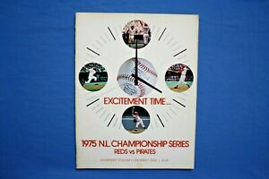 1975 NLCS Program Pittsburgh Pirates at Cincinnati Reds near mint unscored