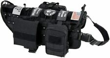 New listing Tactical Military Molle Dog Vest Adjustable Training Service Harness with Detac