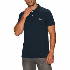 Superdry Classic Pique T-shirt Polo Shirt - Eclipse Navy All Sizes