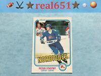 1981 O-Pee-Chee #269 PETER STASTNY Rookie | Quebec Nordiques HOF | Presents Nice