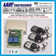 Programmer Basic-3, 433Mhz 2-Kanal Empfänger, Taster-Schalter, m.3 Stück Sender
