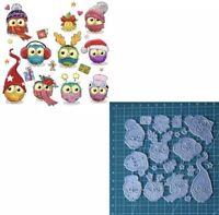 Christmas Owls Metal Cutting Die Scrapbooking Embossing Dies Stencil Card Crafts