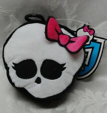 MONSTER High Cloth plush SKELETON Coin Purse Keychain 2014 Mattel Halloween Bow