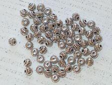 100 Spacer, Metall tibetischer Stil, Farbe antiksilber, 5 x 4 mm A1145
