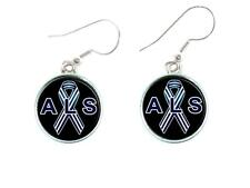 ALS Lou Gehrig's Disease Awareness Silver Plated Hook Earrings Jewelry Gift