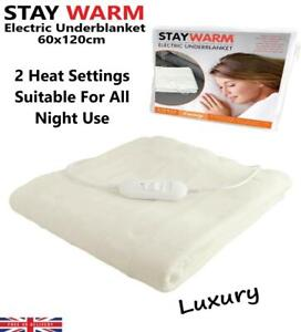 Staywarm Luxury Fleeced Electric Heated Under Blanket Single Controller 60x120cm