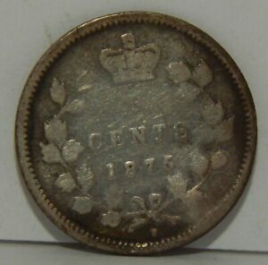 1875-H Large 5 - Canada - 5 Cents