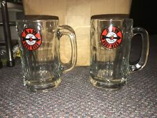 2 A&W Red & White Arrow Root Beer Mugs NICE!