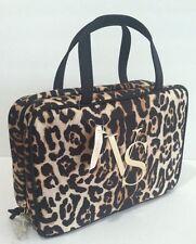 Victoria's Secret Leopard Hanging Travel Case Makeup Bag Easy Clean Lining, New.