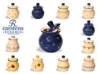 Handgefertigte Honigdose aus Keramik  Honigtopf, Vorratsgefäß, Bienenhonig Imker