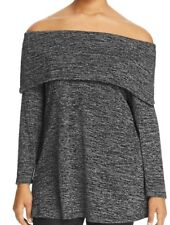 Nally & Millie Womens Sweater Plus Size 2X $94 Marilyn Gray Shawl-Collar Top