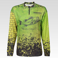 Men's fishing t-shirt Long sleeve Performance shirt with zipper M / L / XL
