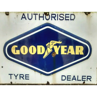 Good Year Tyres Vintage Advertising Wall Sign Retro Plaque Garage