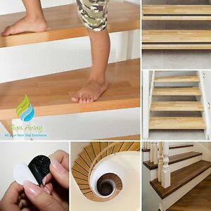 NON SLIP ANTI SKID TEXTURED SAFETY TAPE STAIR STEP HALLWAY LAMINATE FLOOR TREADS