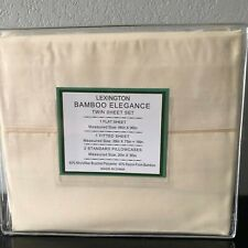Twin 4 pc Bamboo Sheet Set by Lexington with 2 pillowcases Beige
