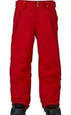 BURTON Youth Boys Snowboard PARKWAY PANTS RED XL
